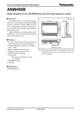 INTEGRATED CIRCUIT DATA AN-995AJ Manual by download Mauritron #186530