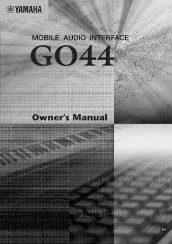 Yamaha GO44_EN_OM Operating Guide by download Mauritron #203729
