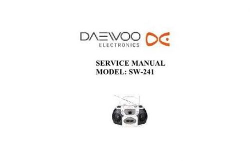 Daewoo SW-241 (E) Service Manual by download #155125