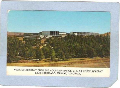 CO Colorado Springs Military Vista of Air Force Academy from mountain rang~26