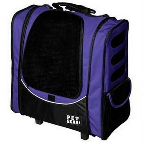 Pet Gear I-GO2 Escort Pet Carrier Car Seat Backpack Lavender
