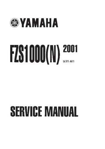 Yamaha Fazer FZS1000(N) '01 Service Manual by download Mauritron