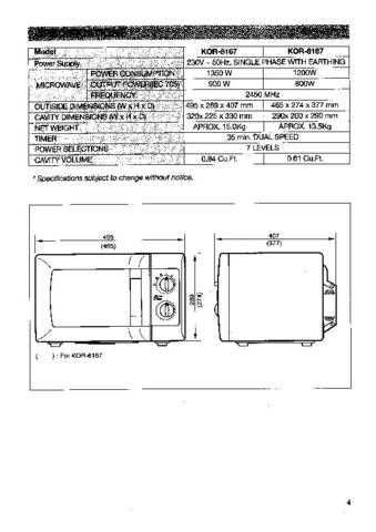 Daewoo KOR-6167BR (E) Service Manual by download #155046