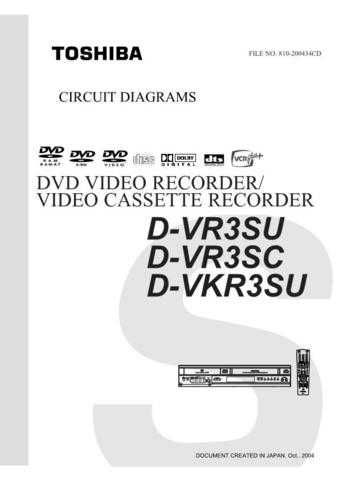 TOSHIBA DVR3SU SC DVKR3SU CD Service Schematics by download #160098