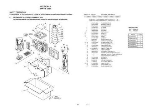 JVC GR-AXM230 GR-SXM330U GR-SXM930U part Service Schematics by download #155553