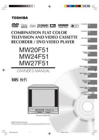 Toshiba MW20FP1 Manual by download #172248