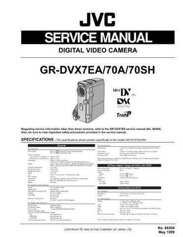 JVC GR-DVX70 CDC-1441 by download #155747