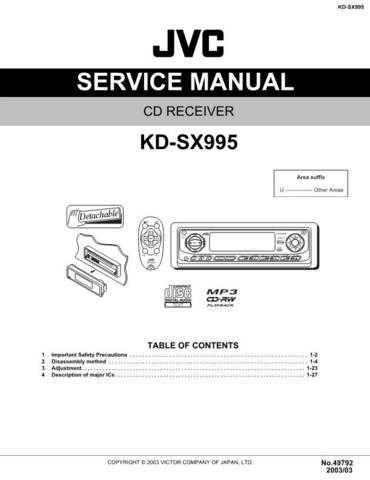 JVC KD-SX995 Service Schematics by download #156224