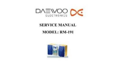 Daewoo RM-191 (E) Service Manual by download #155101