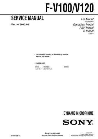 SONY FH-E939CD Service Manual by download #166792