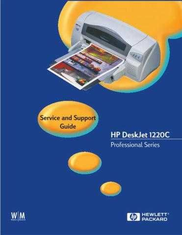 Hewlett Packard DeskJet 201220C 20- 20 20and 20Support 20Guide Service Manual by