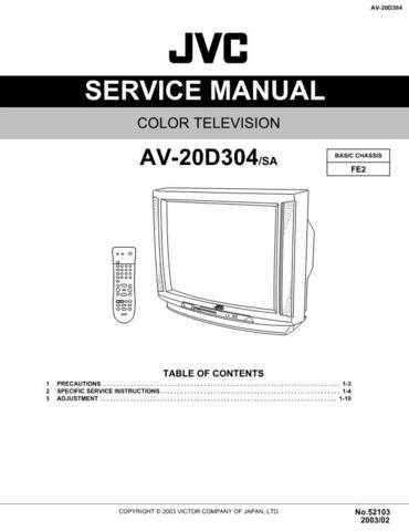 JVC AV-20D304 Service Schematics by download #155307