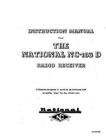 National NC183D A Service Schematics by download #156873