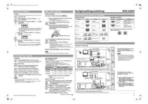Funai HDR-A2835 E434BED QSG NO 02061 Operating Guide by download #162612