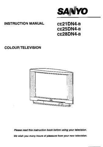 Sanyo CE21DN4-B Manual by download #172920