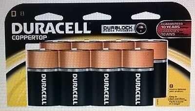 Duracell Coppertop D Batteries 8 Count
