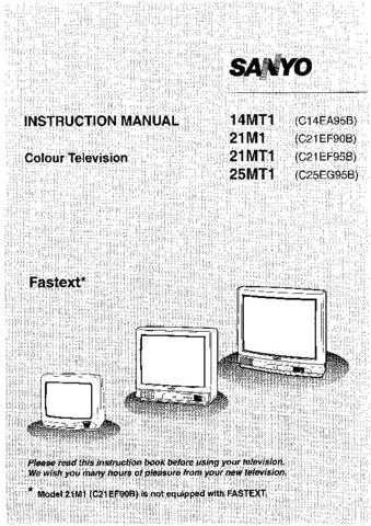 Sanyo 21M1 Manual by download #172609