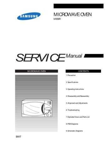 Samsung M959R BWTSMSC101 Manual by download #164393