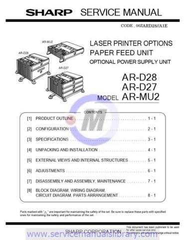 Sharp ARDE5-DE6-DD3-DD4 PG GB Manual by download #179567