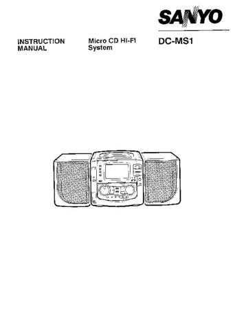 Sanyo DC-M6T Operating Guide by download #169190