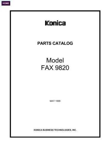 Konica 9820PC Service Schematics by download #136353