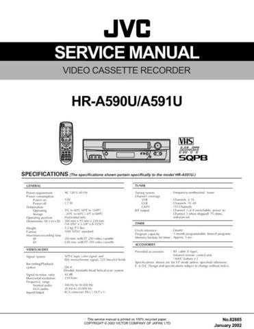 JVC HR-J4009UM Service Schematics by download #155928