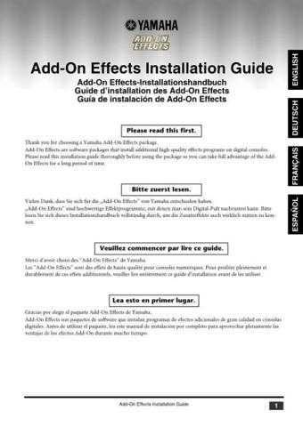 Yamaha ADDONINSTALLATIONE Operating Guide by download Mauritron #204368