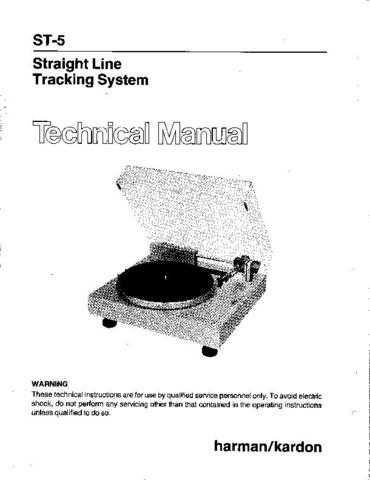 INFINITY ST5 SM Service Manual by download #151558