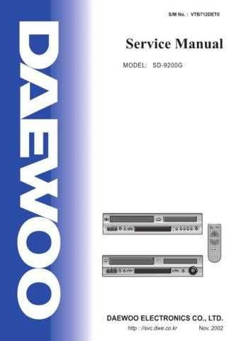 Daewoo SD-9200G (E) Service Manual by download #155105