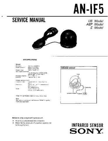 SONY AN-IF5 Service Manual by download #166266