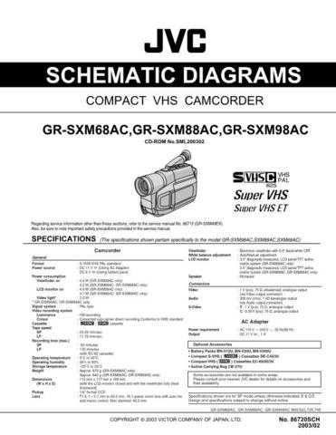 JVC GR-SXM68AC GR-SXM88AC GR-SXM98AC schem Service Schematics by download #1558