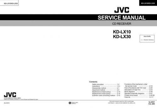 JVC KD-LX10 Service Schematics by download #156119