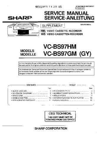 Sharp VCD805H-003 Service Schematics by download #158547