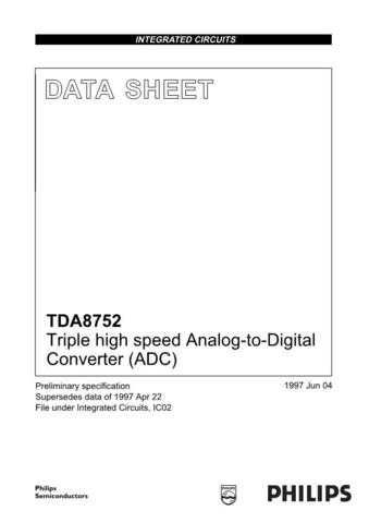SEMICONDUCTOR DATA TDA8752J Manual by download Mauritron #191055