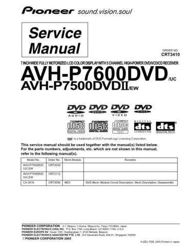 PIONEER C3410 Service Data by download #152943