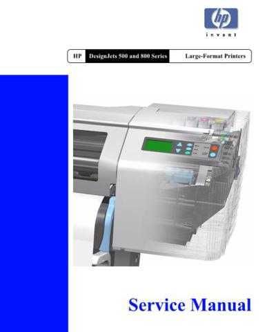 Hewlett Packard DesignJet 20500 20and 20800 20- 20 20 Service Manual by download