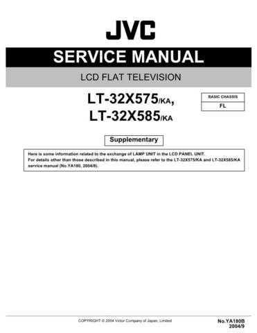 JVC LT-32X575 Service Schematics by download #156282