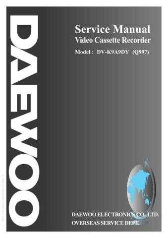 Daewoo Q997 e (E) Service Manual by download #155075