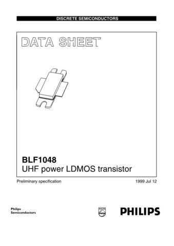 SEMICONDUCTOR DATA BLF1048 N 4J Manual by download Mauritron #187306