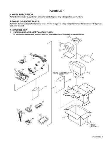JVC GR-D70Exparts Service Schematics by download #155614