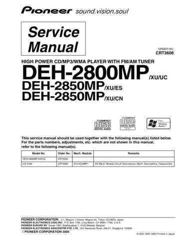 PIONEER C3606 Service Data by download #149256