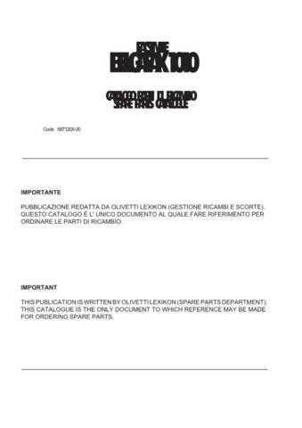 OLIVETTI BELGAFAX 1010 (687120X-00) Service Manual by download #138474
