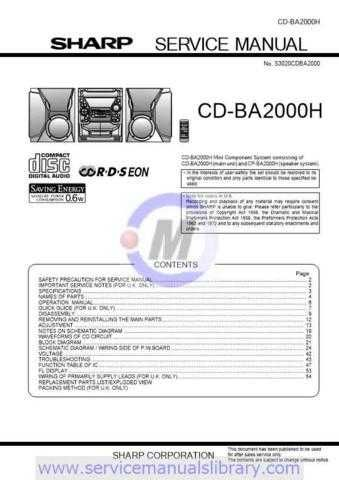 Sharp CDBK137W SM GB(1) Manual by download #179857