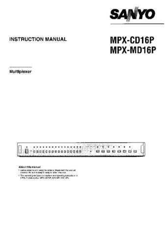 Sanyo MGR86 Operating Guide by download #169439