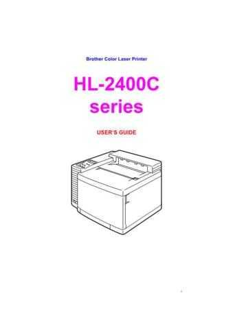 BROTHER HL-2400C PARTS MANUAL Service Manual by download #150004