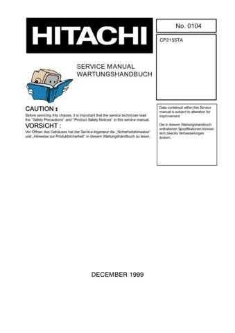 MODEL CP2155TA Service Information by download #123919