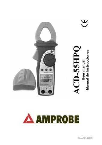 Amprobe ACD55HPQ User Instructions Operating Guide by download Mauritron #19417