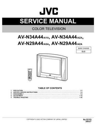 JVC AV-N34A44 Service Schematics by download #155437
