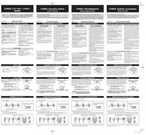 Yamaha ACOUSTICG WS31070 Operating Guide by download Mauritron #204361