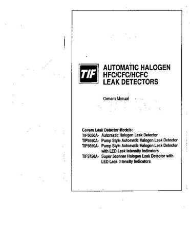 Amprobe TIF5650A Operating Guide User Instructions by download Mauritron #19456